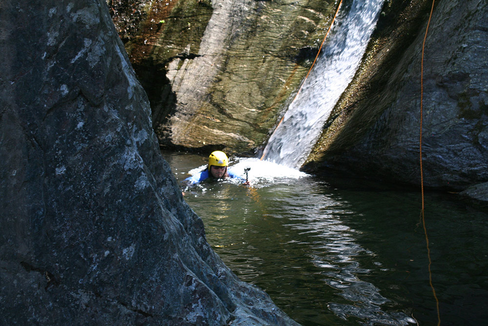 Canyoning / Canyon descent in Greece